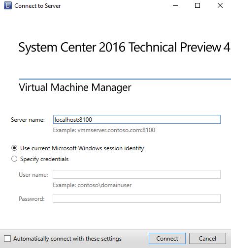 Установка диспетчера виртуальных машин System Center 2016 - шаг за шагом (руководство по быстрому запуску)